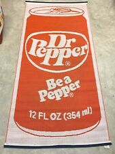 """Dr. Pepper """"Be A Pepper"""" Woven Mat Sign Made In Japan By Mr. Mat Vintage Rare"""