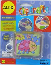 ALEX Clip Crafts SAND PICTURES Kit mini travel Clip-on Basic Fun Retired NEW