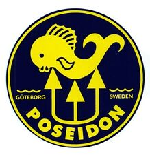 Poseidon Scuba Tank decal sticker Aufkleber Diving Tauchen Tauchsport New