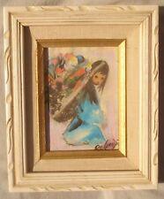 "Ettore Ted DEGRAZIA Artwork ""Beautiful Burden"" Canvas Transfer Print Framed"