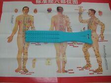 Chinese Medicine Self Healing 3 Finger Paida Paisha Slap Stick & Meridian Chart