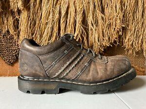 Dr Martens DRAGO Mens Charcoal Gray Leather Shoes sz US M:11/L:12  UK 10