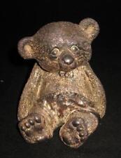 "Lisham Art Rotem Judaica 925 Sterling Silver, BABY BEAR Figurine, 3 3/4"""
