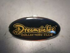 Dreamsicles Collectors Club Promotional Pinback Button Black Silver Gold Print