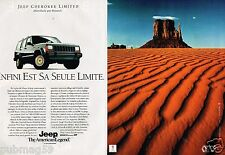 B- Publicité Advertising 1991 (2 pages) Jeep Cherokee Limited 4X4