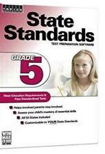 State Standards: Test Preparation Software: 5th Grade PC MAC CD create exams +