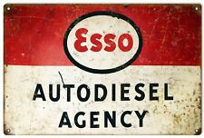 Esso Auto diesel Agency Reproduction Gas And Motor Oil Sign