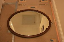 vintage framed oval wall mirror