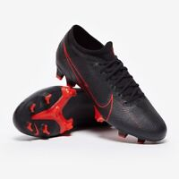 Nike Mercurial Vapor 13 Pro FG Soccer Cleats Black/Red AT7901-060 Mens Size 9.5