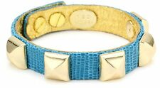 """Ted Rossi """"Palm Beach Chic"""" Embossed Leather Pyramid Bracelet NIP $195"""