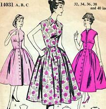 Maudella patrón de costura Vintage 5691 vestido con cinturón Detalle Nueva Sin Cortar