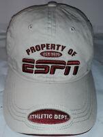 """ESPN HAT """"PROPERTY OF ESPN""""( HARD TO FIND )"""