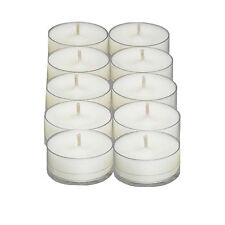 Pack of 10 - 100% Soy Natural Tea Light Candles - 8-10 Hour Burn Time