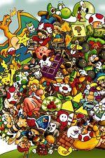 Nintendo Nes Snes N64 3DS MARIO LINK ZELDA  8.5x11 Photo Poster Game Decor #6