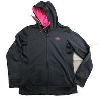 The North Face Womens Jacket Size Large Fleece Full Zip Front Attached Hood