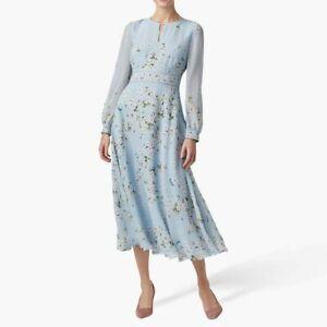 New Hobbs Skye Fit and Flare Midi Dress Size UK 12 14