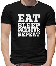 Eat Sleep Parkour Repeat Mens T-Shirt - Free Running - Freerunning - Runner