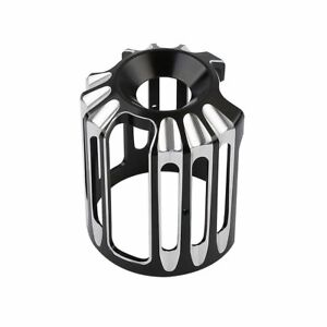 Motorcycle Black CNC Cut Oil Filter Cover For Harley Dyna Softail Touring XL883