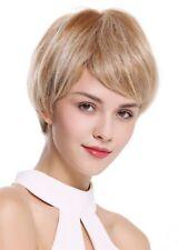 Perruque pour Femme Monofilament Court Lisse Burschikos Blond Platine Méché