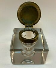 Vintage Victorian Leaded Glass Inkwell