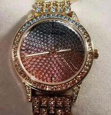 Juicy Couture Black Label Watch With 38mm Face With Blue & Pink Tone Crystal's