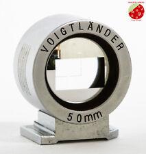 Near Mint Voigtlander 50mm View finder Silver for rangefinder BESSA-L from Japan