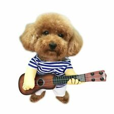 Pet Dog Clothes Puppy Guitarist Shirt Clothing For Small Dogs Chihuahua Apparel