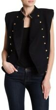 NWT Free People Cropped Military Vest Size Med Navy Wool Blend Sleeveless