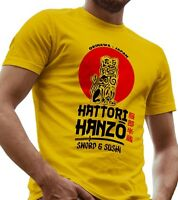 Hattori Hanzo Sword and Sushi Men`s T-Shirt Funny Kill BIll Shirt LeRage Shirts