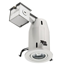 Lithonia Lighting 3 in. Construction/Remodel White Gimbal Recessed Kit (9 PACK)
