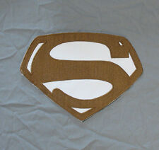 Superman Embroidered Chest Emblem Logo Cosplay George Reeves (B&W) version
