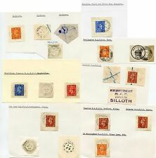 GB RAF POST OFFICES 19 ITEMS CANCELS + HANDSTAMPS 1944-54 COLLECTION
