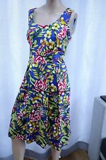 AB Sleeveless floral butterfly skater Multi yellow blue dress M&Co 12uk