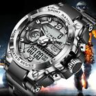 LIGE Digital Men SPORT Watch 50m Waterproof Wristwatch LED Quartz