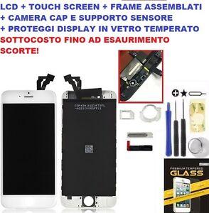 VETRO SCHERMO DISPLAY LCD + TOUCH SCREEN BIANCO PER APPLE IPHONE 6 QUALITA AAA+