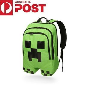 Minecraft Schoolbag School Backpack Rucksack Book Creeper Storage Bag Sports Boy