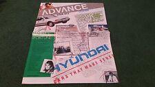 Late 1988 HYUNDAI ADVANCE ISSUE 2 Magazine UK BROCHURE Sonata Pony Ebony & Ivory