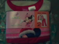 "NWT Disney girl 2pc flannel sleep set w/holiday themed ""Minnie Mouse"" print; 4T"