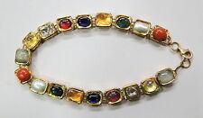 Vintage handmade 22K Gold jewelry Diamond Navratan Gemstones Bracelet Bangle