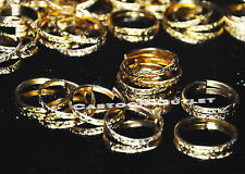 144 GOLD WEDDING RINGS BANDS FAVORS RECUERDOS METAL BODA ANILLOS CRAFT BULK DIY