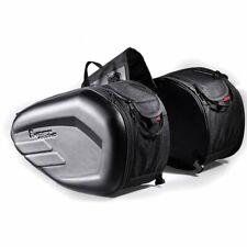 58L Large Capacity Expandable Motorcycle Rear Seat Luggage Saddle Bag Black HW