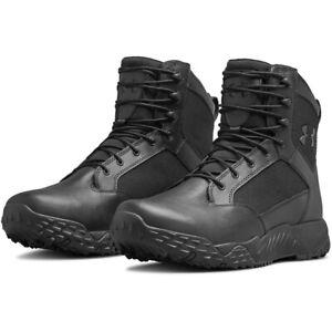 Under Armour 3021903 Men's UA Stellar Tactical Waterproof Duty Boots, Black