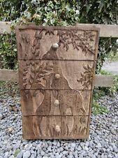 Hand Carved Made Mango Wood Wooden Giraffe Large Jewellery Box Drawer Holder
