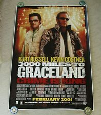 3000 MILES TO GRACELAND 4X6 BUS SHELTER DS MOVIE POSTER NEW HUGE