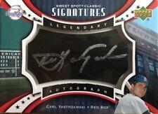 2007 UD Sweet Spot Carl Yastrzemski Auto SP /5 Boston Red Sox Autograph