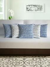 Divine Casa Micro Polyester 100 GSM Abstract Set of 5 Cushion Cover (16 x 16 in)