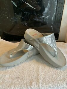 sketchers Sparkle,Tone Up,walk And Workout Sandals Size 6,silver Exercise Shoes