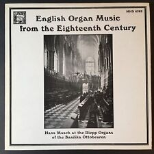 Hans Musch English Organ Music from the 18th Century ~ MHS 4382 ~ FAST SHIPPING!