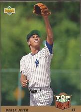 DEREK JETER 1993 Upper Deck Top Prospects Rookie Card (List. G)