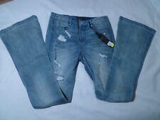 Suede Farrah Ladies Denim High Rise Flare Jeans Med Blue Size 27 NWT MSRP $69.00